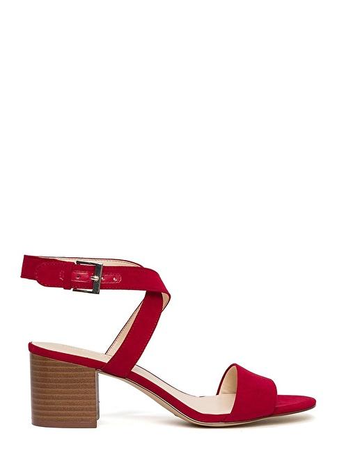 Nine West Kalın Topuklu Sandalet Kırmızı
